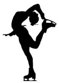 ice figure skater silhouette